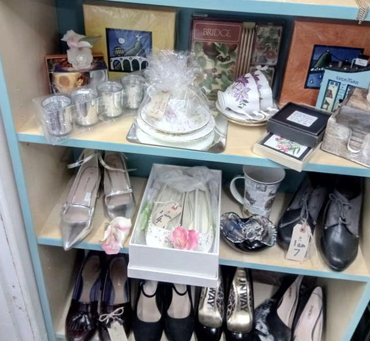 a range of shoes and other gifts